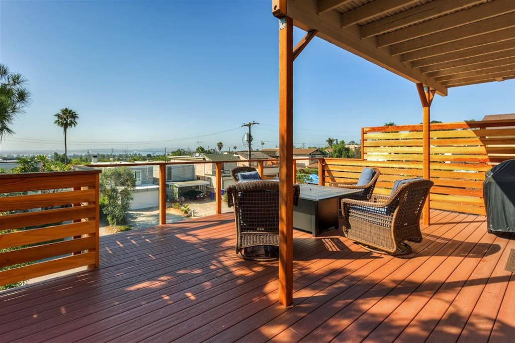 Unwind on one of the home's 3 private decks