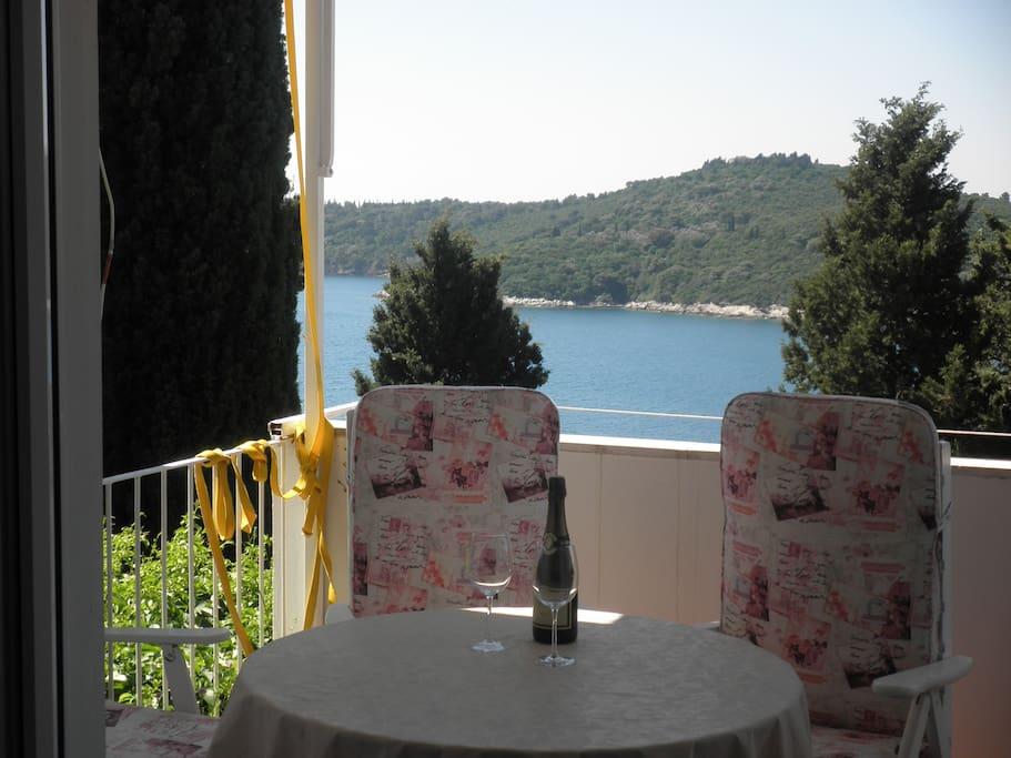 View from balcony- Island of Lokrum