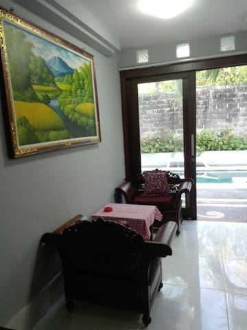 Room in front of plunge pool near Sanur beach
