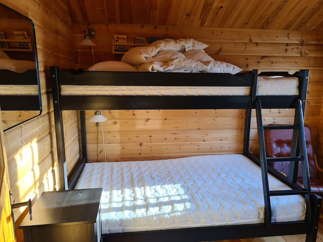 Bedroom 2 - Bunk bed with 120 cm downstairs and 90 cm upstairs.