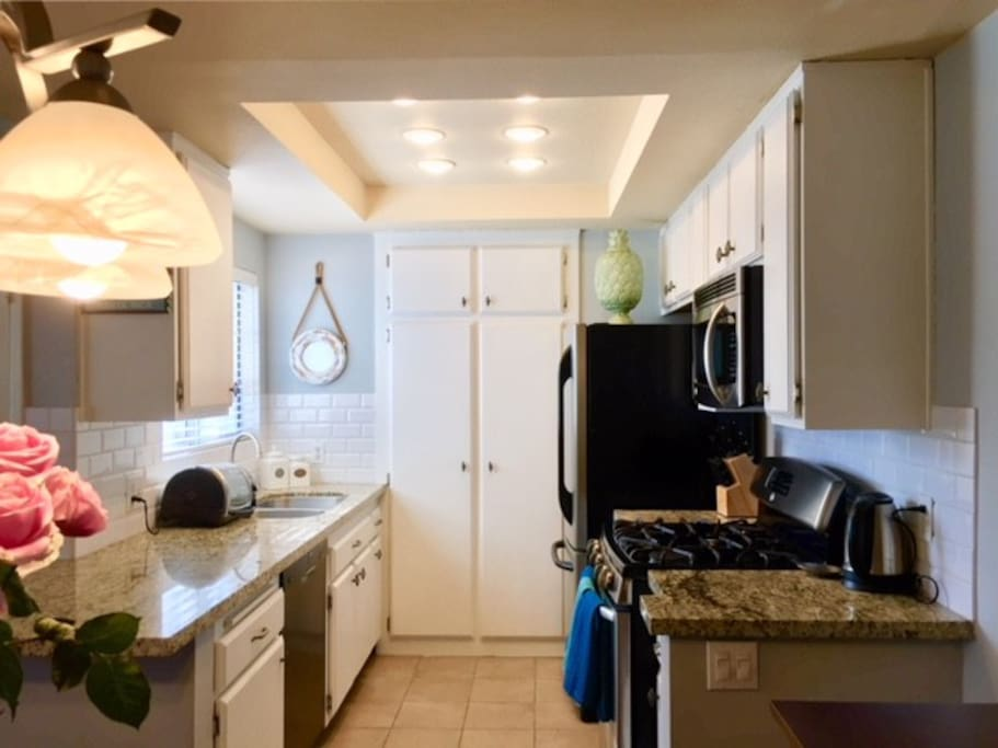 Upgraded and updated kitchen fixtures and appliances