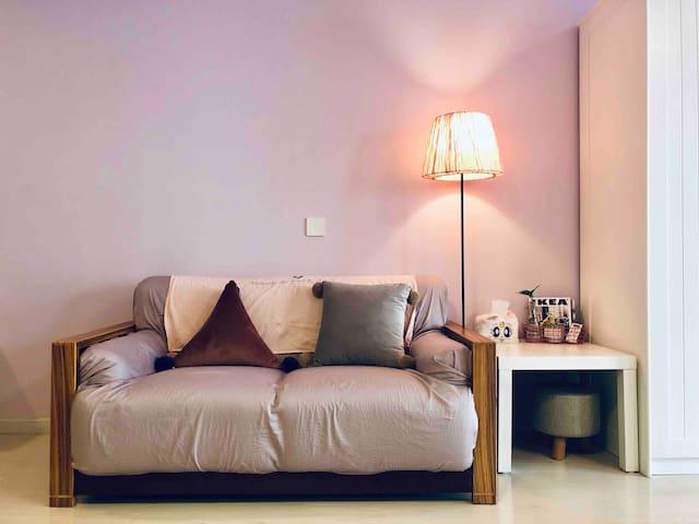 『萌萌の家』粉色ins风少女心公寓 毗邻玄武湖火车站地铁1号3号线