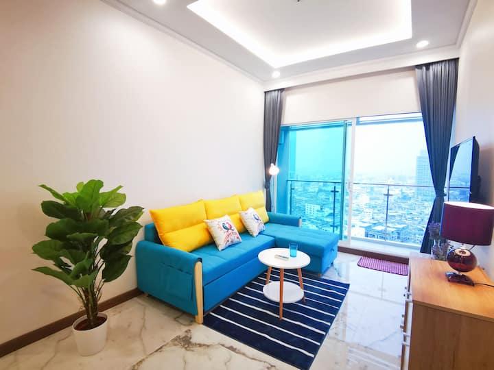 第一高楼MahaNakhon像素大厦/是隆/沙吞/【曼谷华尔街公寓】CBD/米其林网红餐厅/MRT