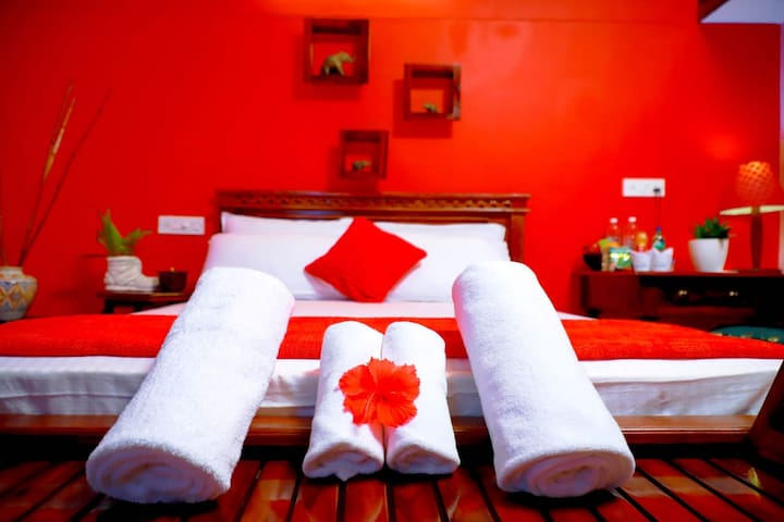 Red Room with Garden View