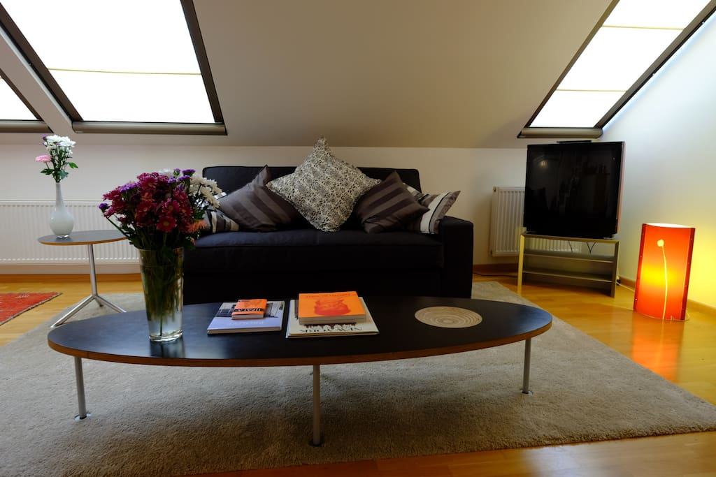 Living room with Bang & Olufsen TV