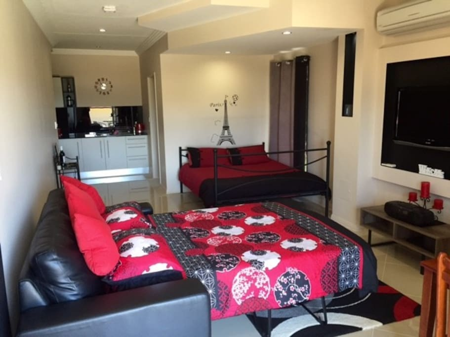 Queen Size Bed and a Double Sofa Bed for Extra Guests