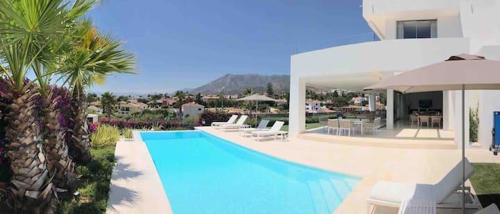 Spectacular designer Villa East Marbella