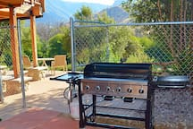New giant grill - can cook 50 burgers at one time!