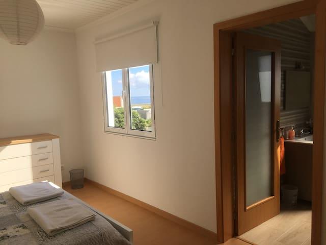 Ocean and Garden views from bedroom