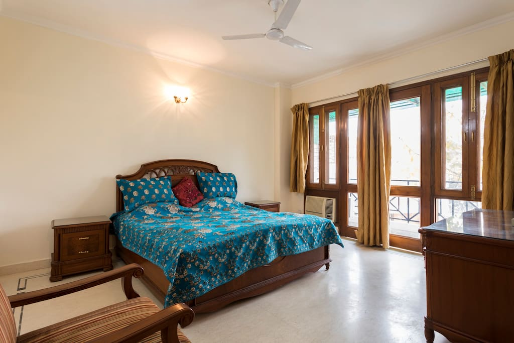 Royal Blue Master Bedroom
