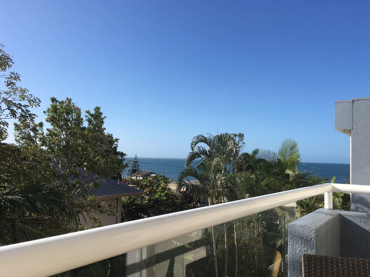 Ocean view from private balcony off the bedroom