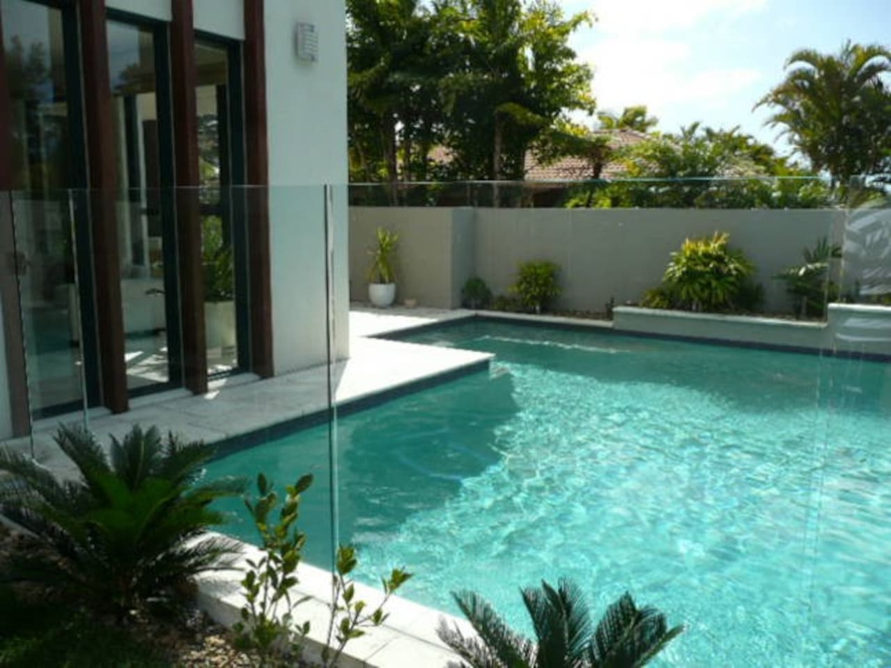 Beautiful pool with hot & cold outdoor shower