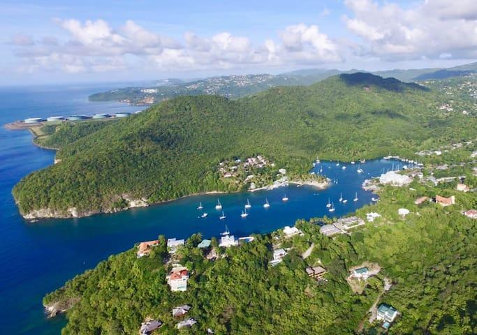 Ariel View of Marigot bay