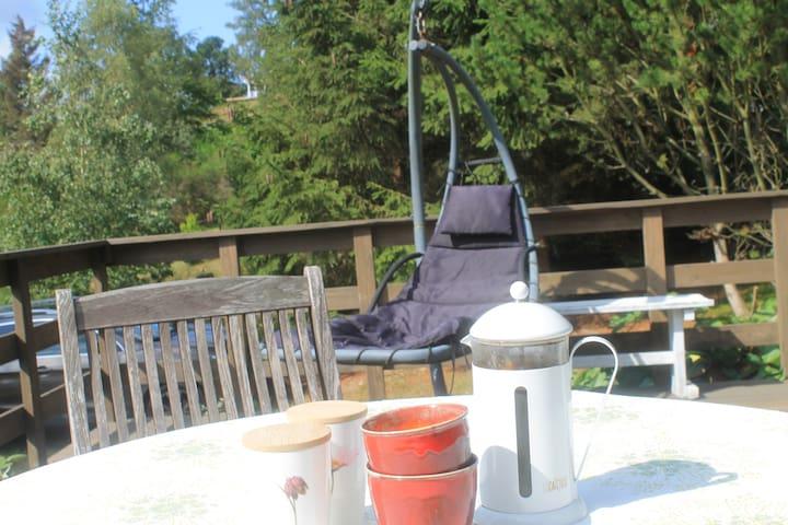 Stor teresse med hængekøjestol