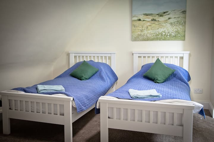 Twin room in newly refurbished B and B