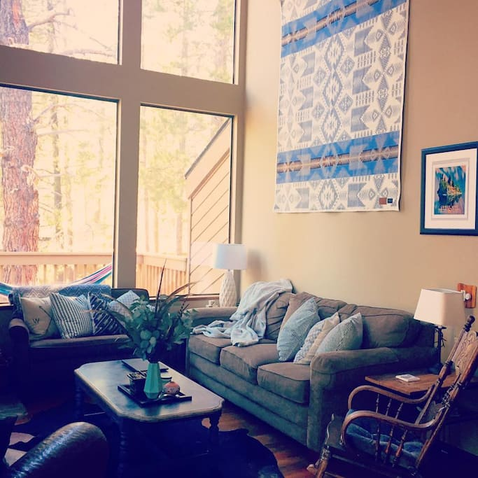 Relaxing living room with comfy seating for all
