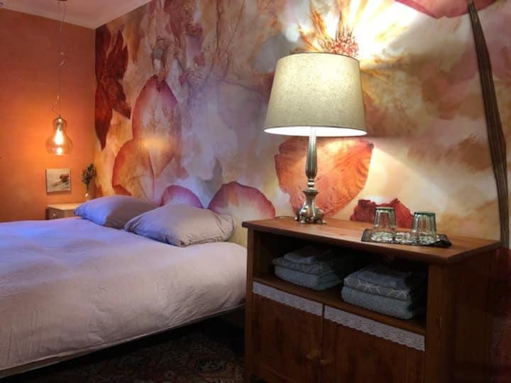 Het Kloppend Hart:   2-4p kamer in oase van groen