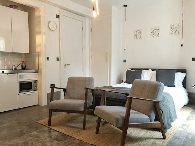 Beautiful studio flat in De Beauvoir