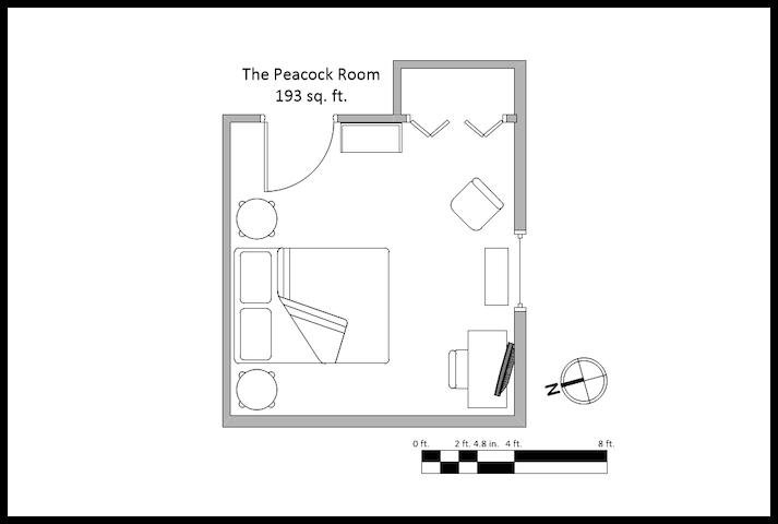 The Peacock Room Layout