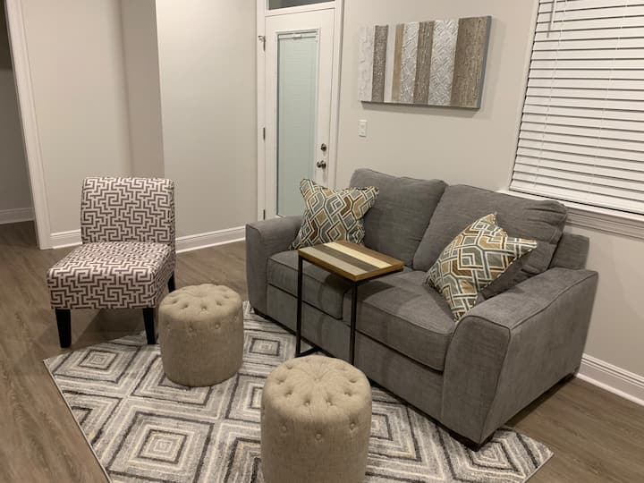 Luxurious 2nd floor midtown apartment with balcony