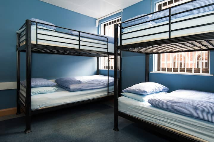 Bunk bed in a female dorm