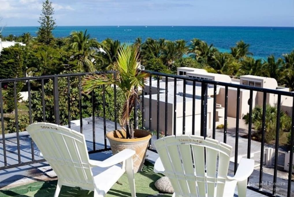 Relax on the fifth floor common area deck. Steps from our condo.