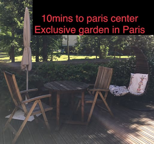 10 mins to Paris Centre, Stylish with Garden
