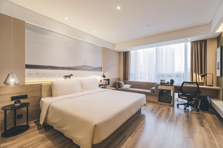 上海安亭亚朵酒店几木大床房1