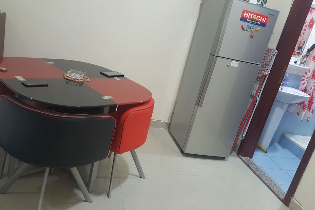 Table and Fridge