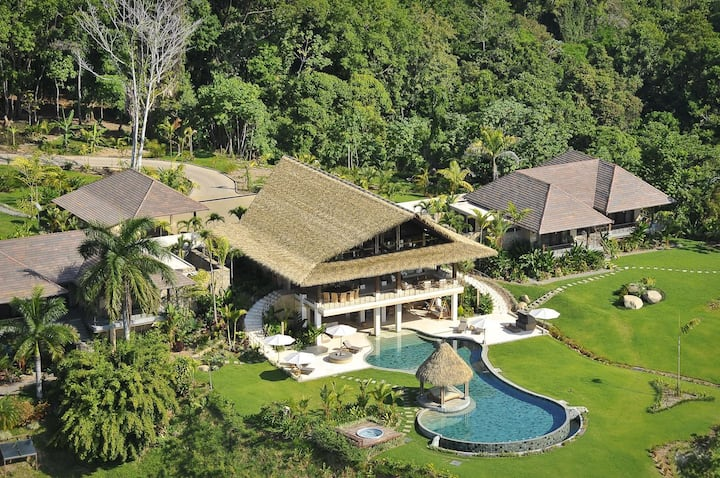 Tropical Ocean-View Villa Surrounded By Rainforest
