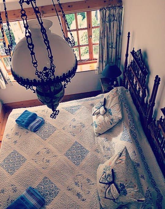 Bedroom from mezzanine above