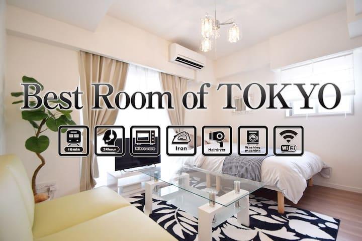 OPENING SALE40%!Asakusa 10min 4 ppl Free Wi-Fi#601