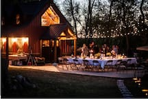 The cottage is being used for a wedding in this picture. It's also ideal for graduations.