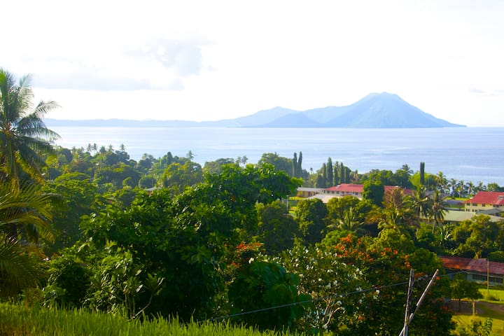 View of the volcanoes from Vunapope