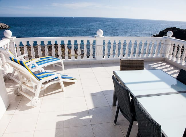 First line, 2-bed, terrace 30 sq.m above the ocean - Santa Creu de Tenerife - Pis