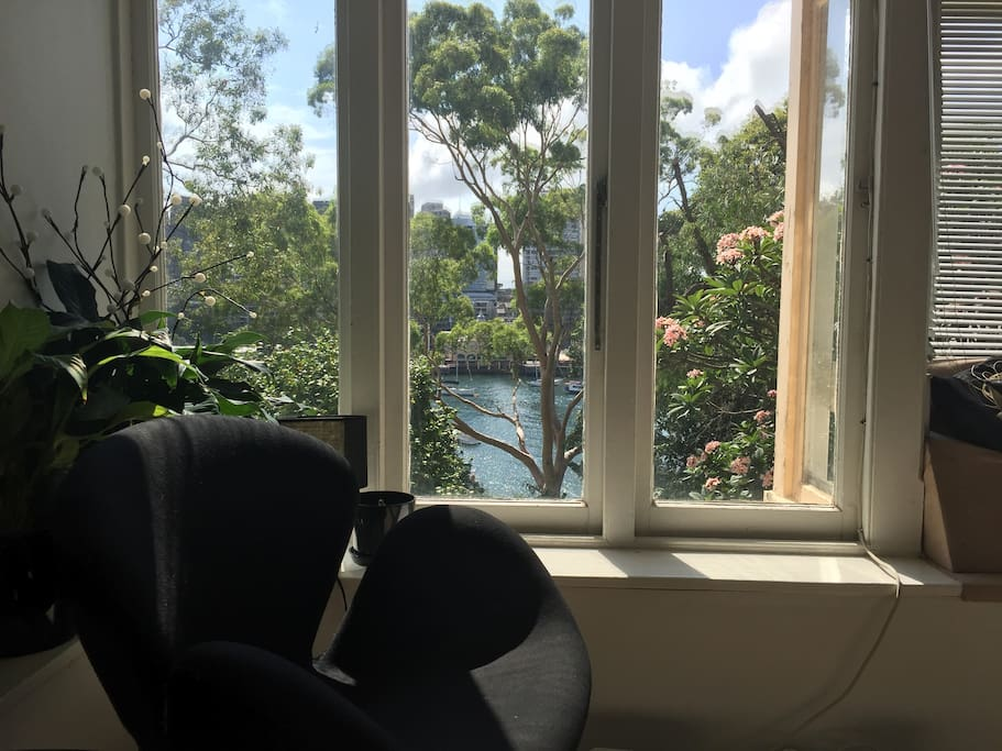 Lavender Bay from small dining room space