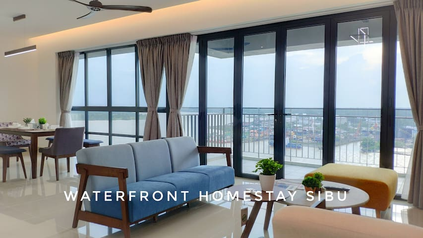 Waterfront (E) 3BR+3Bath+8 Persons+ Wifi+Parking