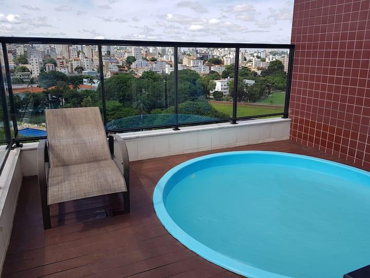 """Cobertura """"top house"""" com piscina e churrasqueira"""
