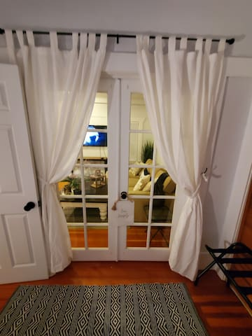 French doors to the suite