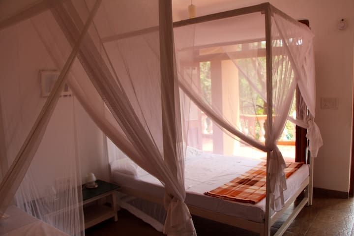 Double Room 8 in peaceful yoga centre setting