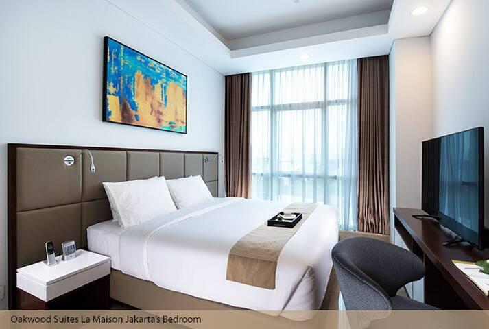 Oakwood Suites La Maison Jakarta - Kebayoran Baru - Betjent leilighet