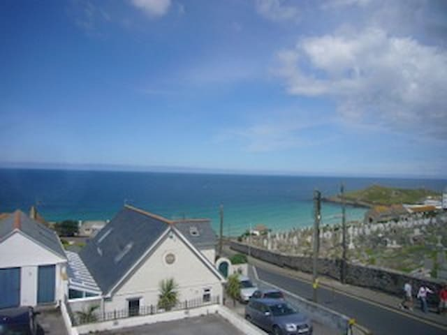 Porthmeor beach-view from front bedrooms