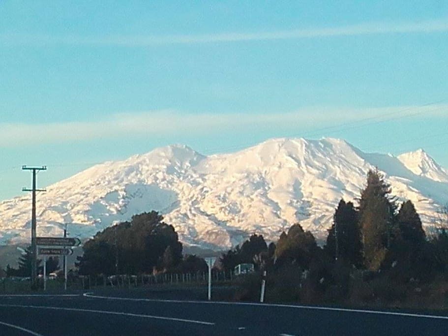 Mount Ruapehu from Horopito