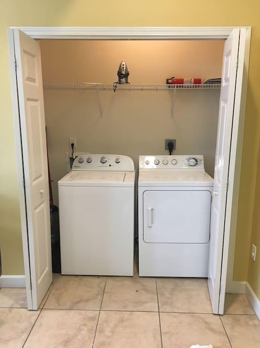 Washer, Dryer, & Iron