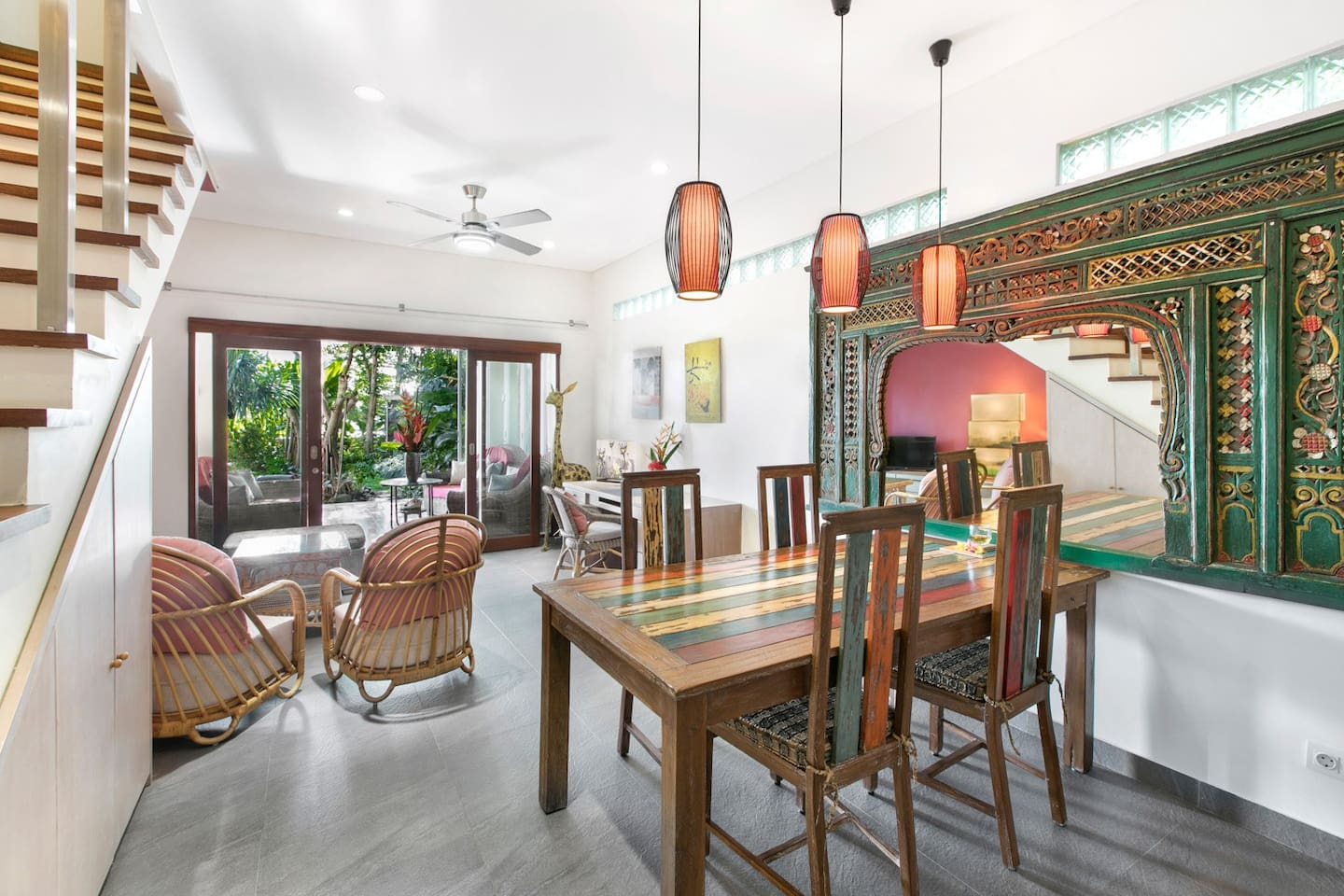 Dining and living area, with access to your terrace, garden and pool