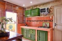Entrada Terraza y area de cocina