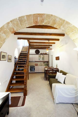 Kythira,Chora traditional maisonette with sea&cast