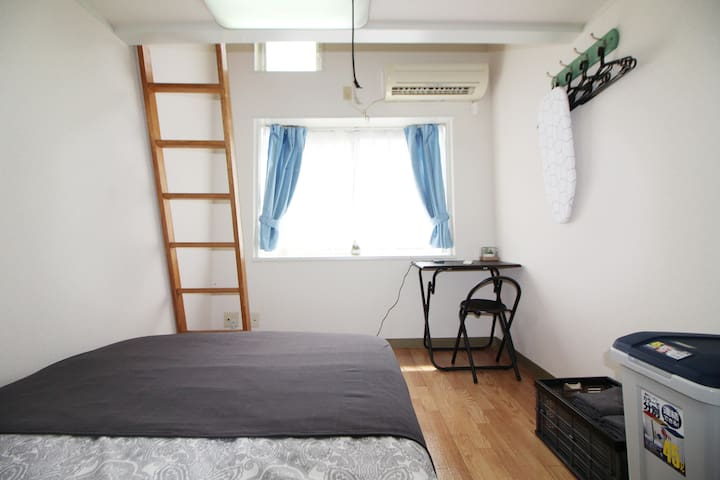 2 min by train to Shinjuku Sta!4 ppl can stay!