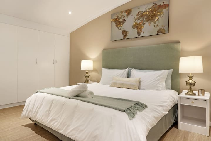 Master room with king sized bed