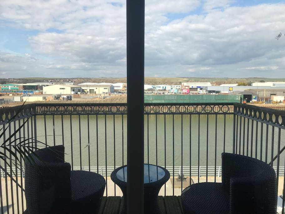 Enjoy a nice coffee in the morning looking over River Adur